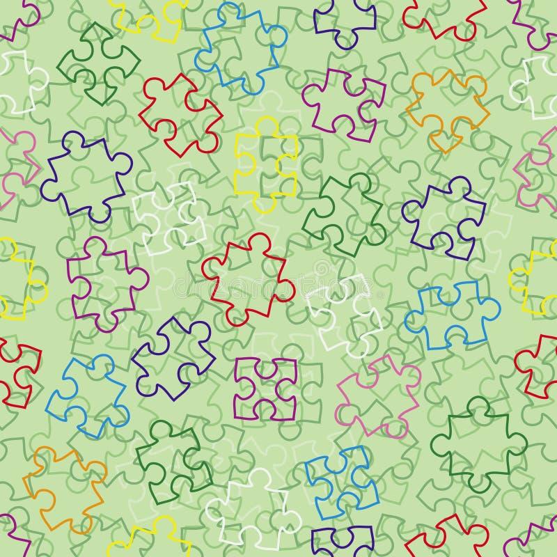 Priorità bassa senza giunte con il puzzle royalty illustrazione gratis