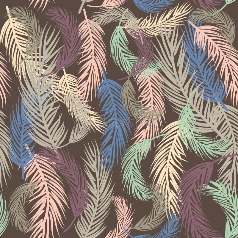 Priorità bassa senza giunte con le foglie di palma royalty illustrazione gratis