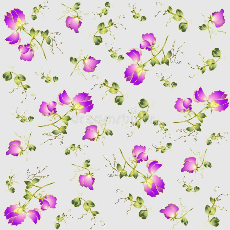 Priorità bassa senza giunte da un ornamento dei fiori, fashi illustrazione di stock