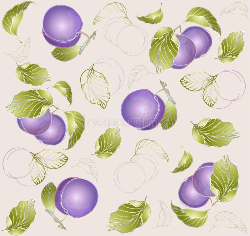 Priorità bassa senza giunte da un ornamento della frutta, fashio illustrazione di stock
