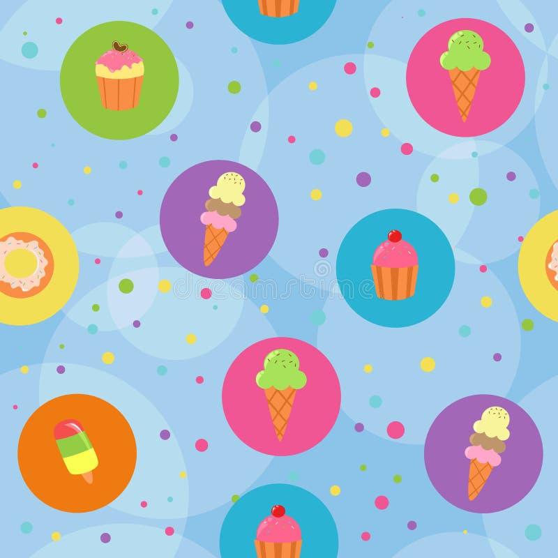 Priorità bassa senza giunte dei dessert royalty illustrazione gratis
