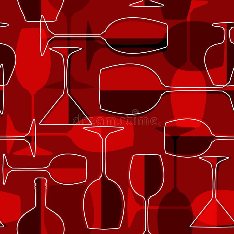 Priorità bassa senza giunte del bicchiere di vino illustrazione di stock