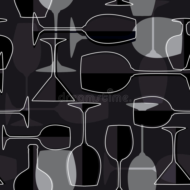 Priorità bassa senza giunte del bicchiere di vino illustrazione vettoriale