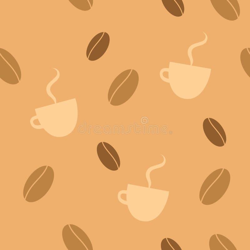 Priorità bassa senza giunte del caffè illustrazione vettoriale