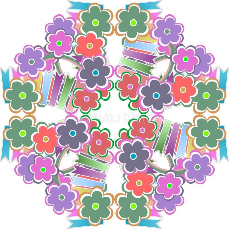 Priorità bassa senza giunte del reticolo del fiore astratto illustrazione vettoriale