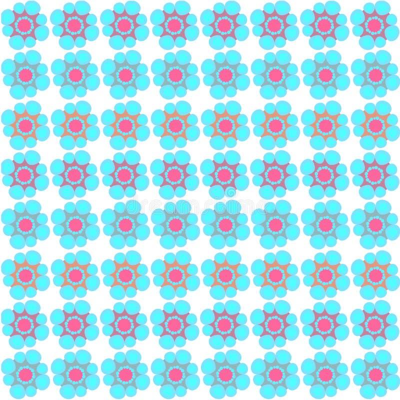 Priorità bassa senza giunte del reticolo di fiore illustrazione vettoriale