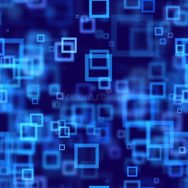 Priorità bassa senza giunte dell'estratto blu dei quadrati illustrazione vettoriale