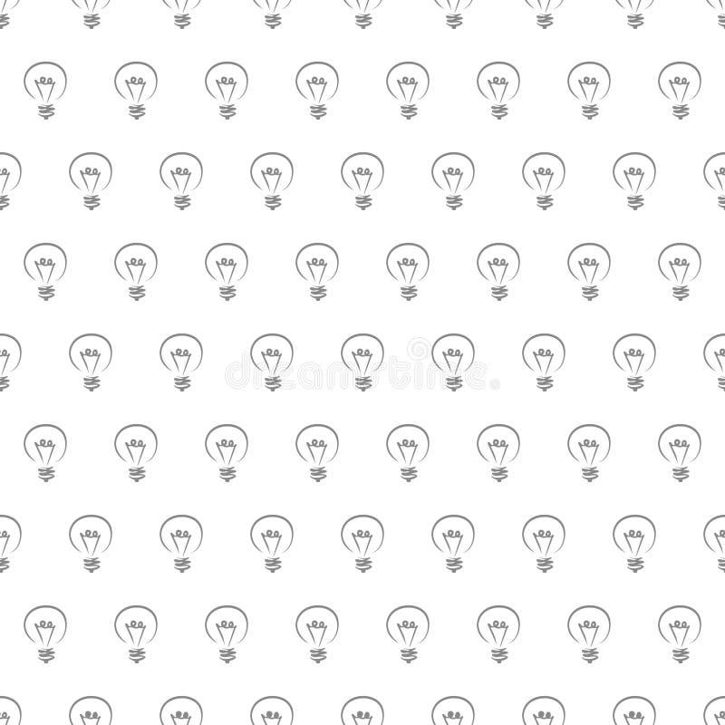 Priorità bassa senza giunte di struttura del reticolo delle lampadine illustrazione di stock