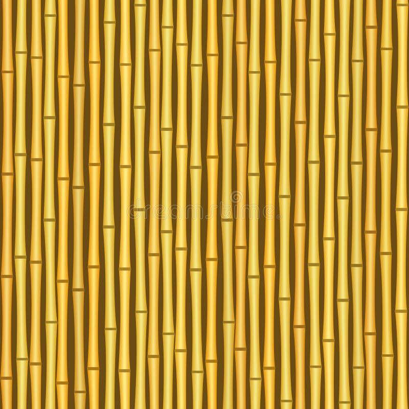 Priorità bassa senza giunte di struttura della parete di bambù dell'annata illustrazione di stock