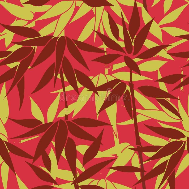 Priorità bassa senza giunte floreale Modello della foglia della pianta royalty illustrazione gratis