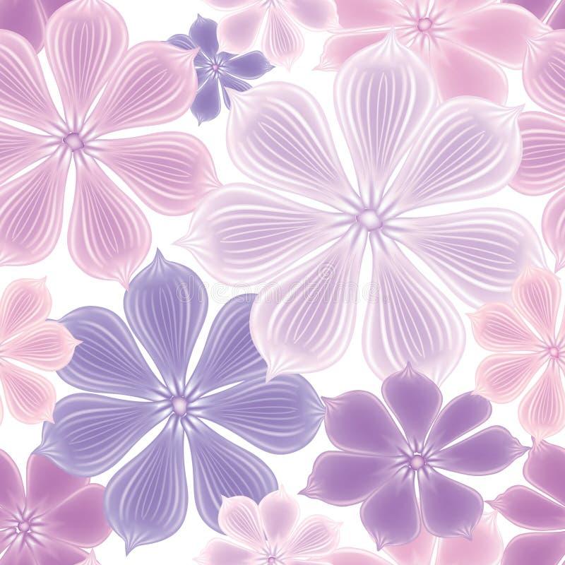 Priorità bassa senza giunte floreale Reticolo di fiore decorativo Se floreale illustrazione vettoriale