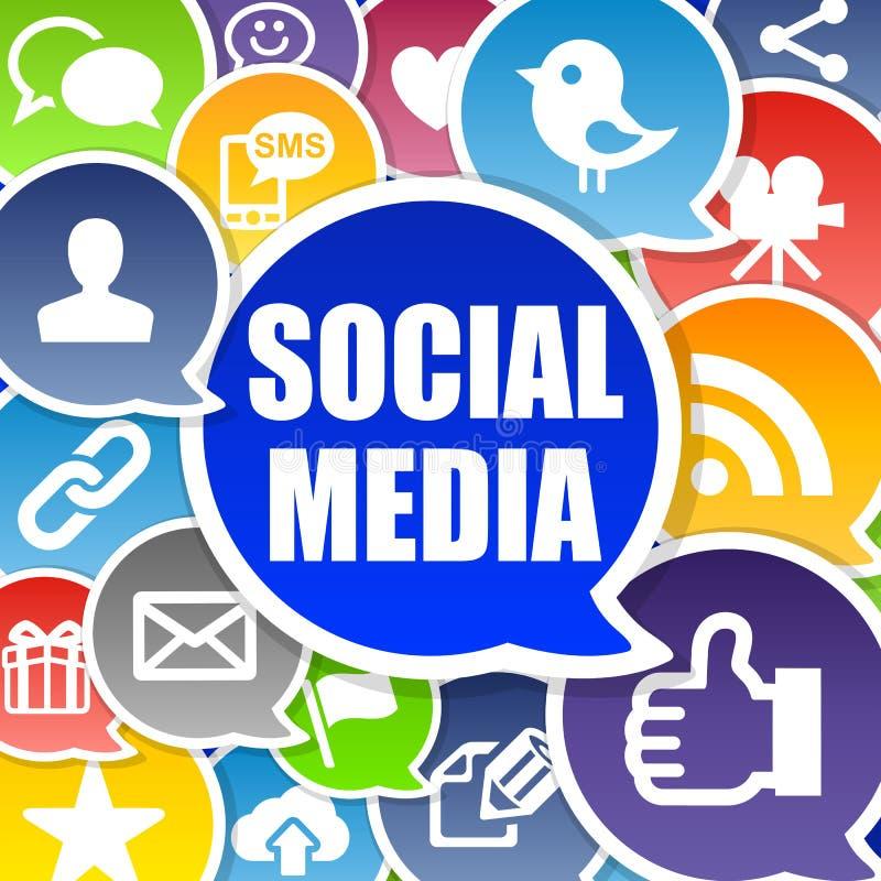 Priorità bassa sociale di media illustrazione vettoriale