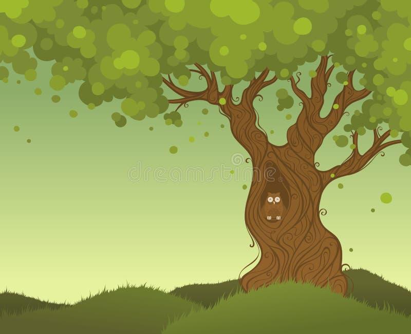 Priorità bassa sola dell'albero illustrazione vettoriale