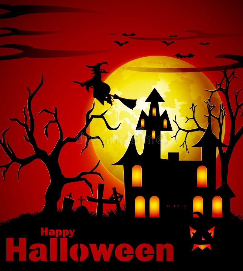 Priorità bassa spettrale di Halloween fotografia stock