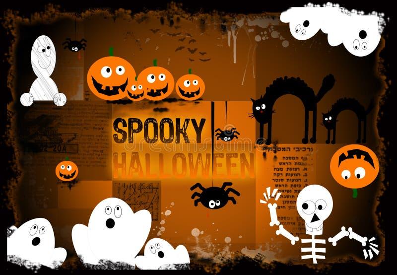 Priorità bassa spettrale di Halloween royalty illustrazione gratis