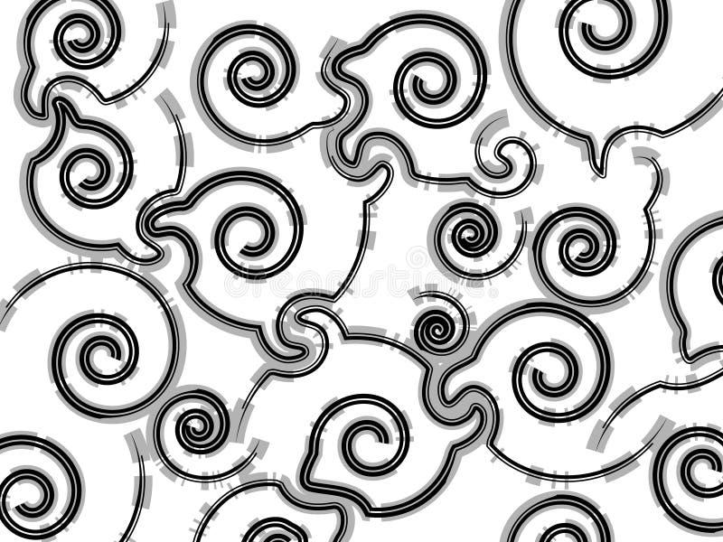 Priorità bassa a spirale illustrazione vettoriale