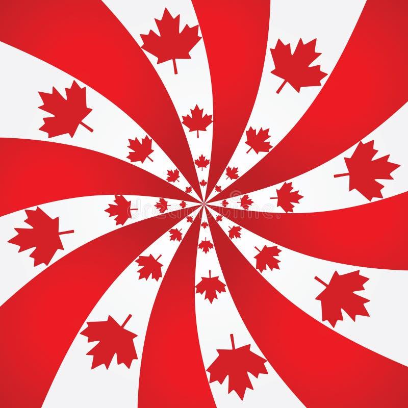 Priorità bassa a spirale del Canada illustrazione di stock