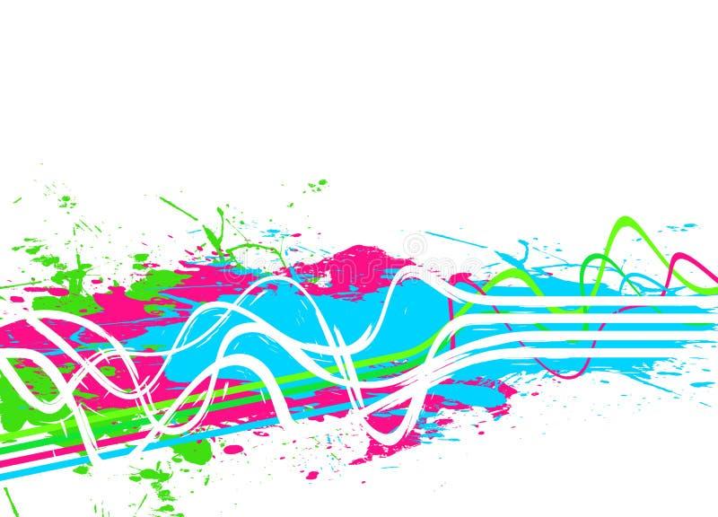 Priorità bassa Splattered della vernice illustrazione di stock