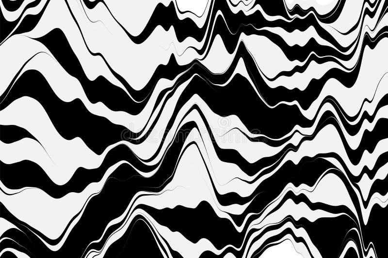 Priorità bassa a strisce di vettore Fondo geometrico con le linee curve Grafici di moto Illustrazione di vettore illustrazione di stock