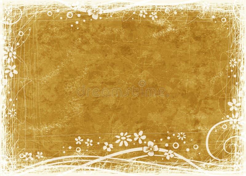 Priorità bassa strutturata dorata illustrazione vettoriale