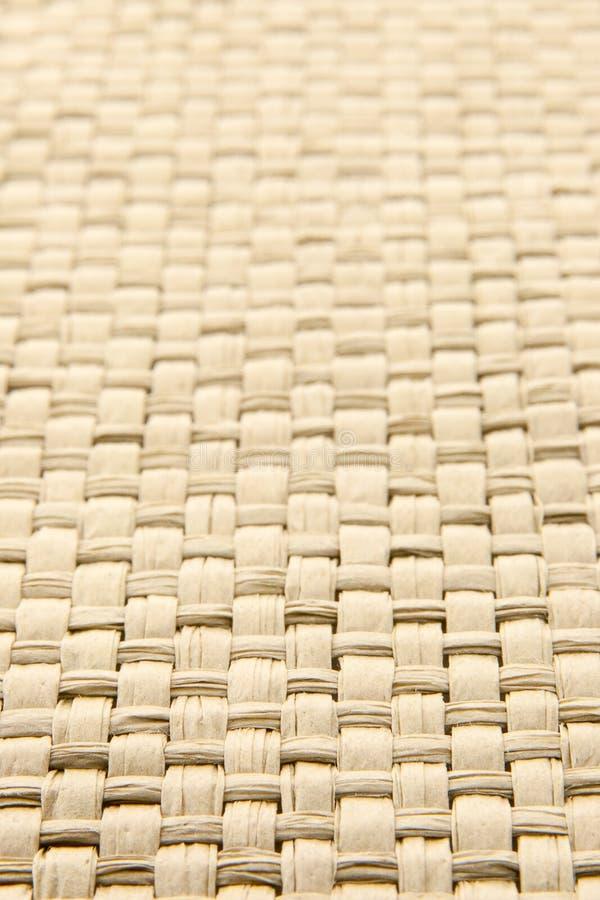 Priorità bassa strutturata tessuta gialla astratta del thatch fotografia stock