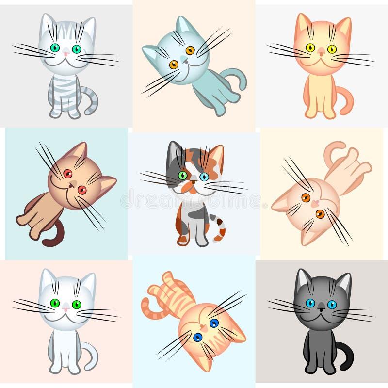 Priorità bassa su un tema del gatto illustrazione di stock