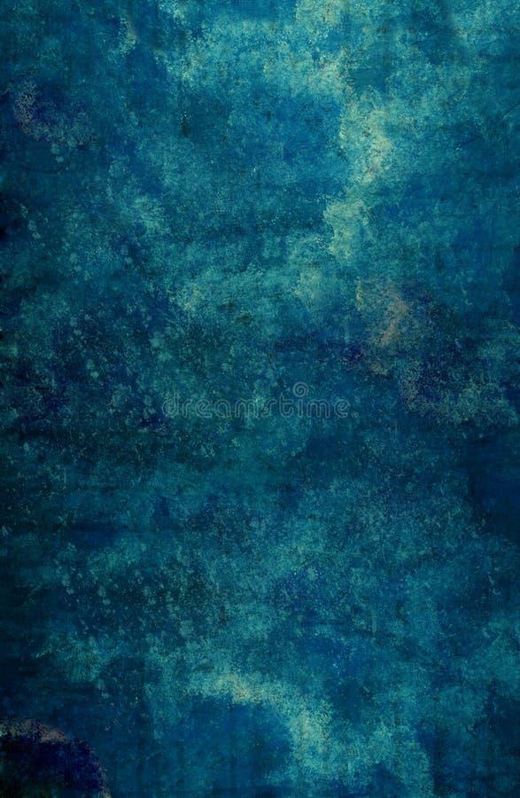 Priorità bassa subacquea blu di Grunge illustrazione di stock