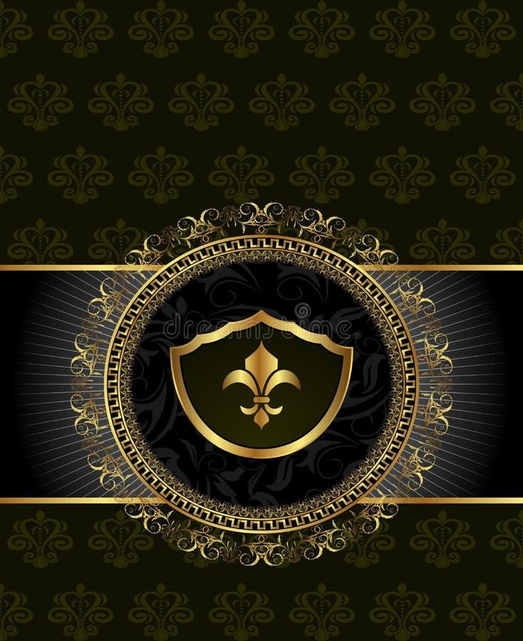 Priorità bassa sveglia con l'elemento araldico royalty illustrazione gratis