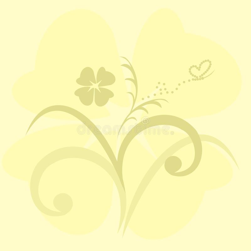 Priorità bassa sveglia dei fiori per il disegno per l'invito illustrazione di stock
