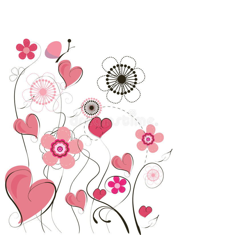 Priorità bassa sveglia del biglietto di S. Valentino illustrazione vettoriale