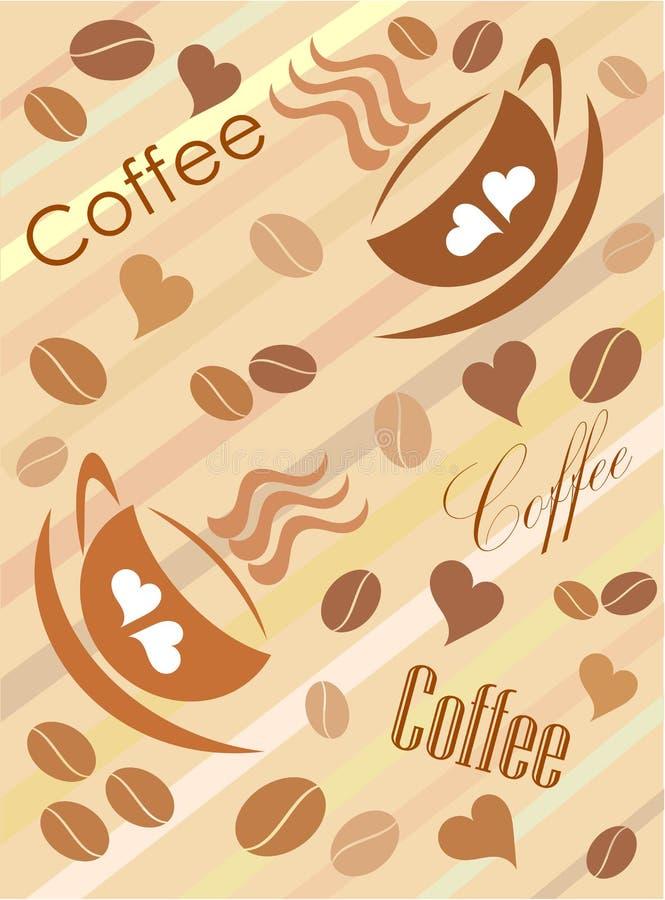Priorità bassa sveglia del caffè illustrazione di stock