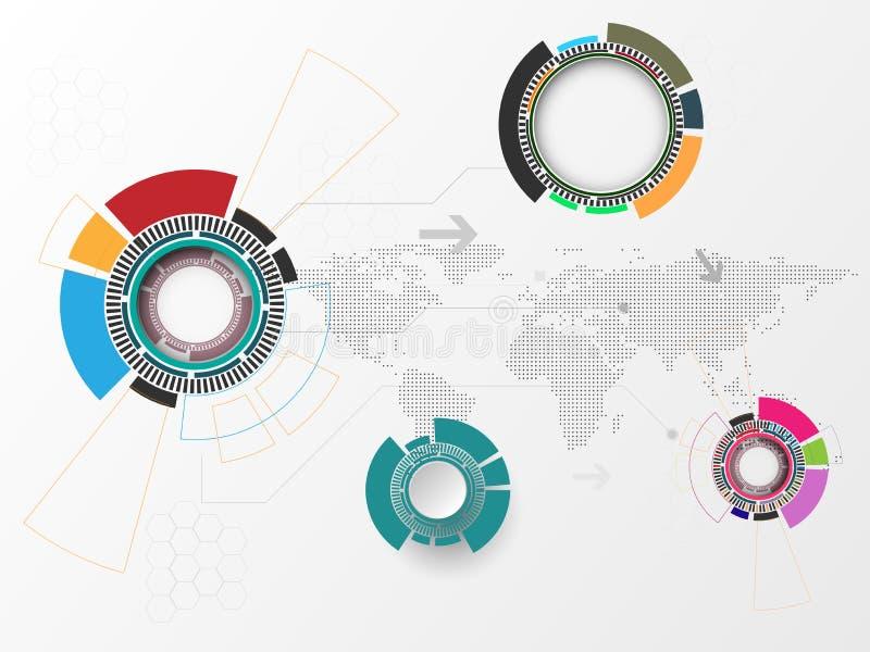 Priorità bassa tecnologica astratta Modello della struttura royalty illustrazione gratis