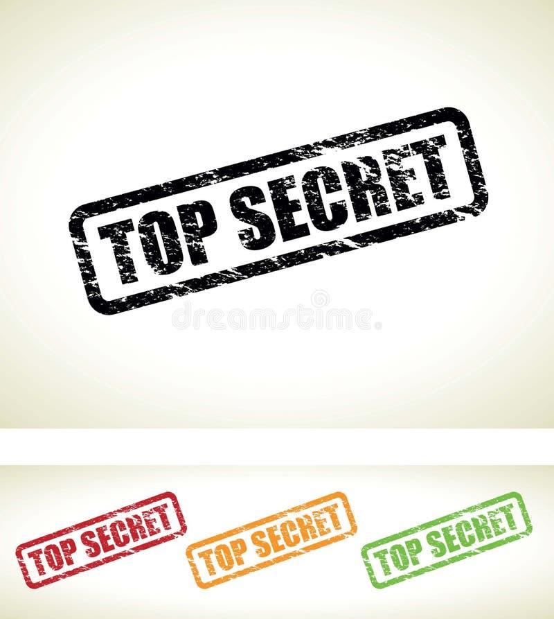 Priorità bassa top-secret illustrazione di stock