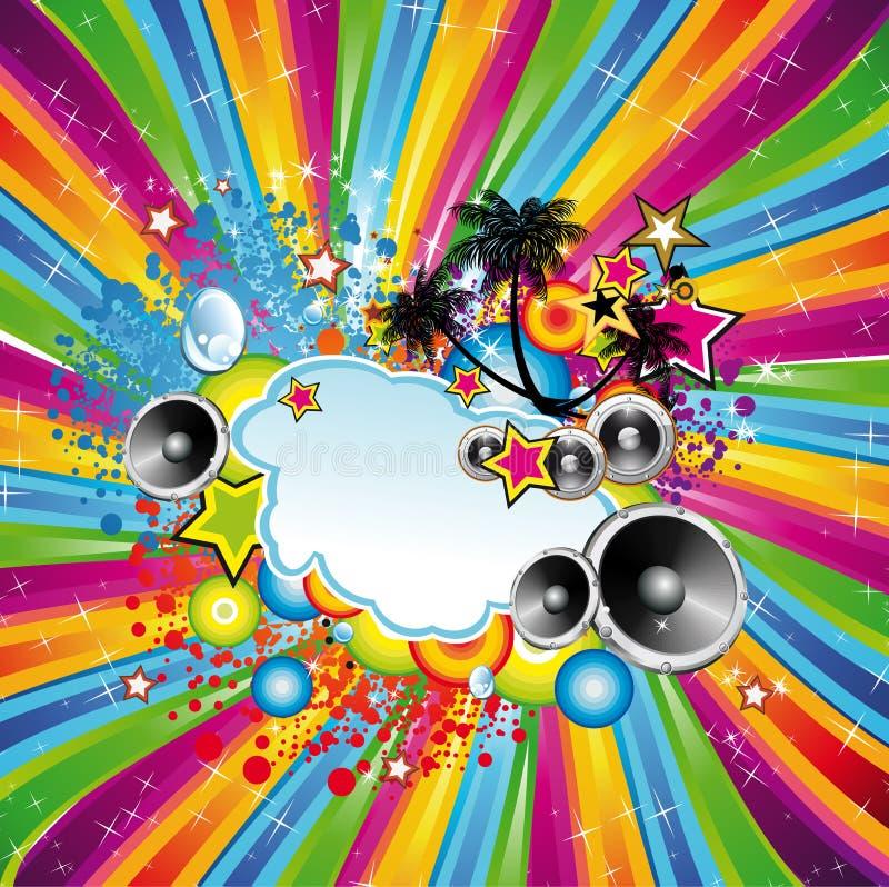 Priorità bassa tropicale di ballo della discoteca illustrazione vettoriale