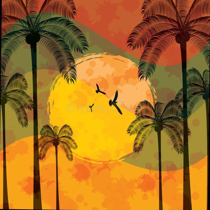 Priorità bassa tropicale di festa di estate illustrazione di stock