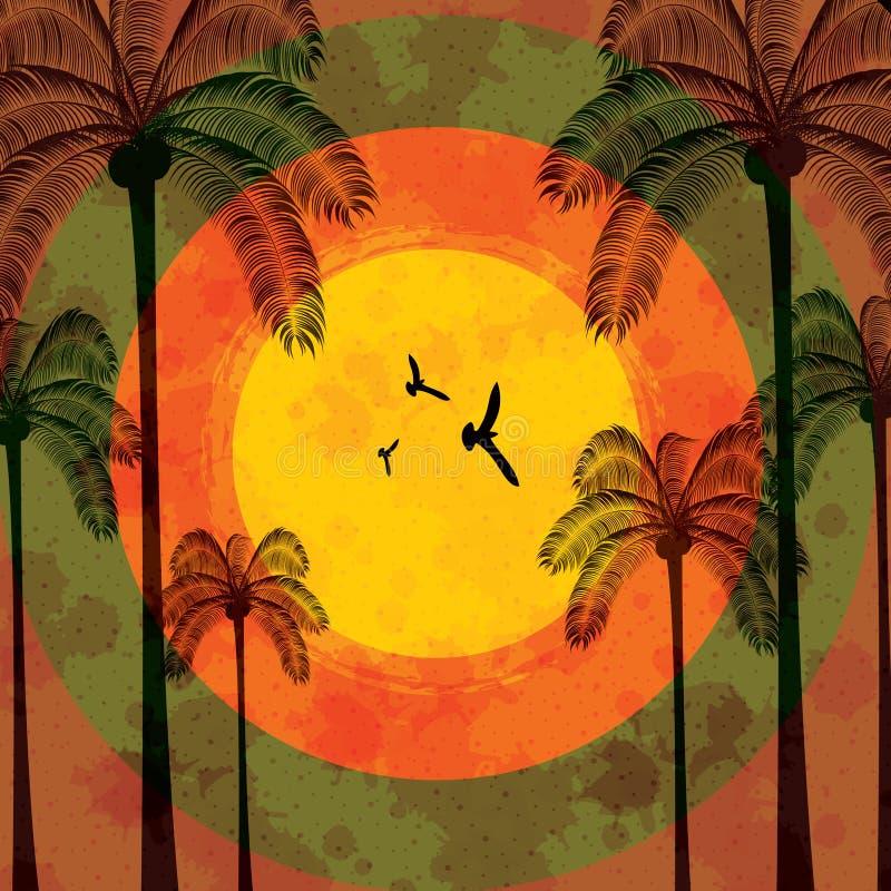 Priorità bassa tropicale di festa di estate royalty illustrazione gratis