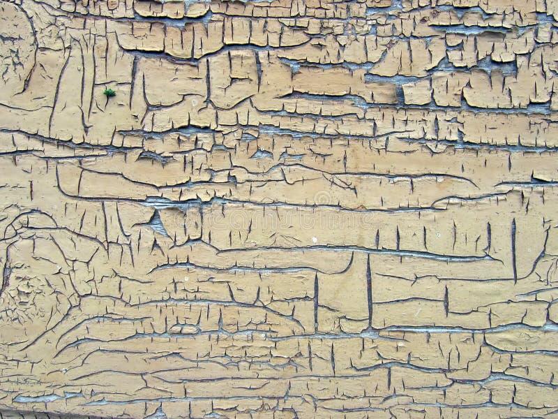 Priorità bassa - una parete in una vecchia vernice immagini stock