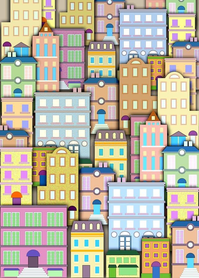 Priorità bassa urbana della costruzione royalty illustrazione gratis