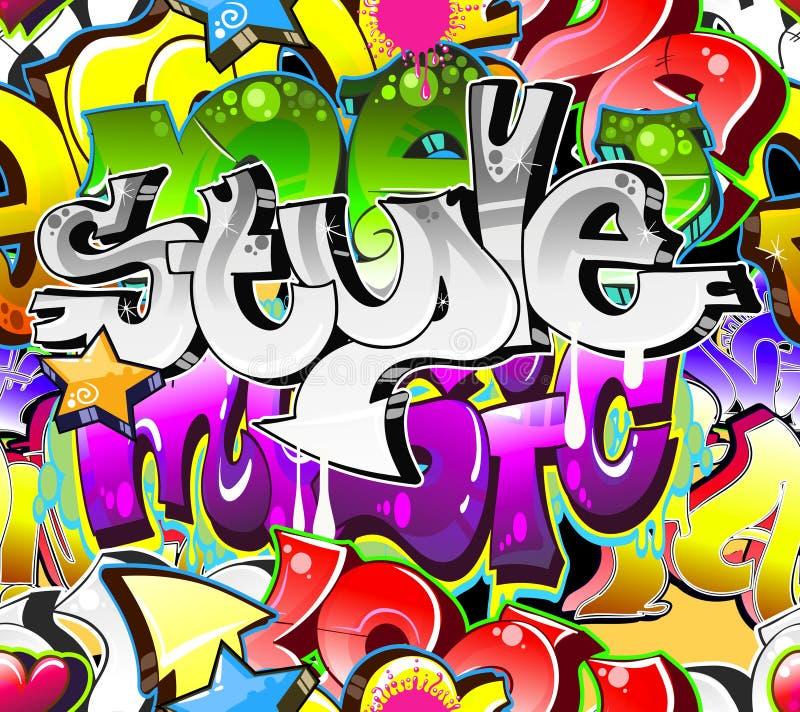 Priorità bassa urbana di arte dei graffiti illustrazione di stock