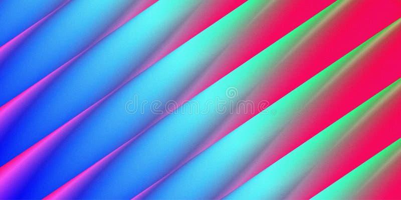 Priorità bassa variopinta astratta linee di colore di mescolamento illustrazione di stock