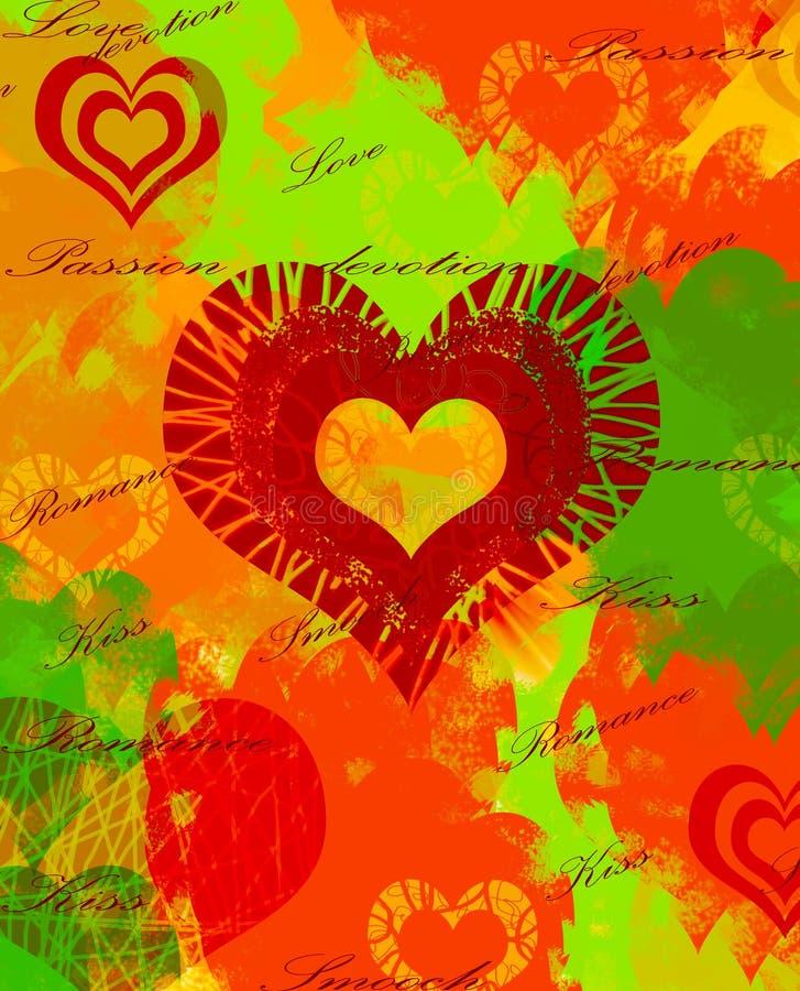 Priorità bassa variopinta del cuore illustrazione vettoriale