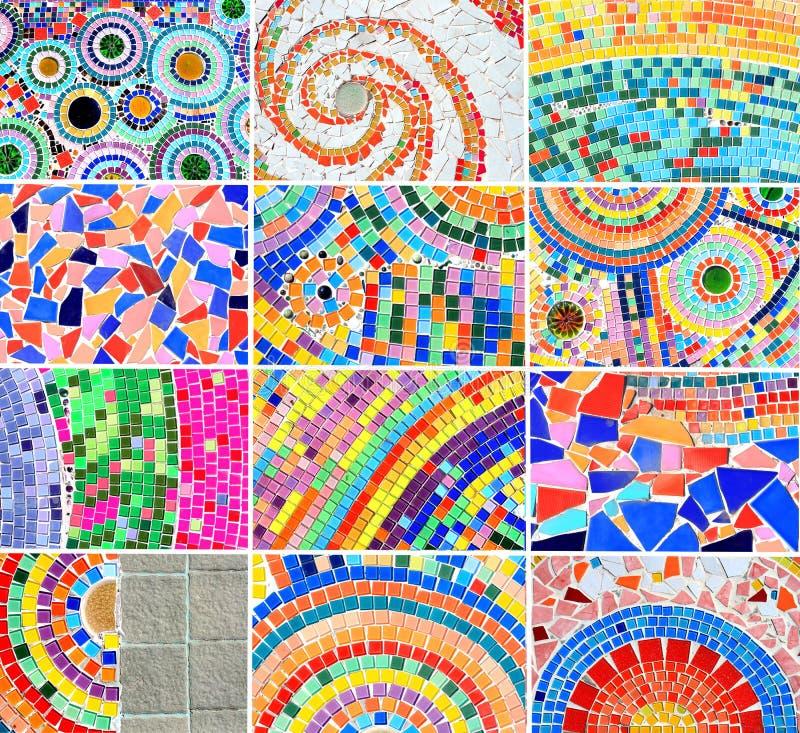 Priorità bassa variopinta del mosaico della miscela immagini stock