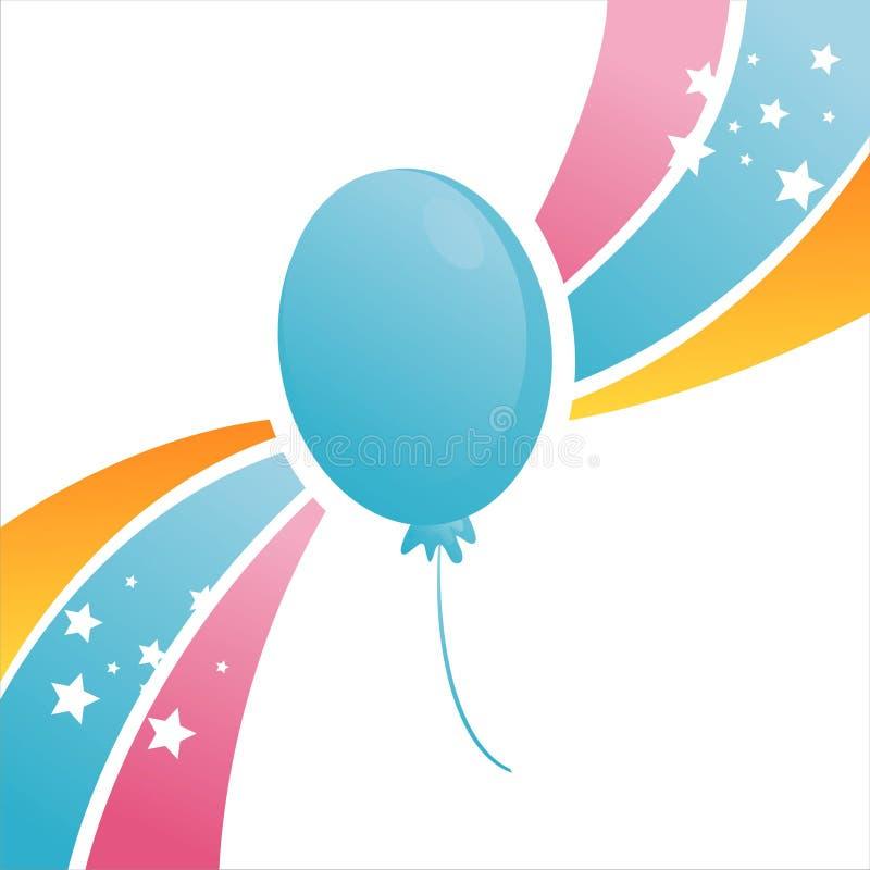 Priorità bassa variopinta dell'aerostato di compleanno royalty illustrazione gratis