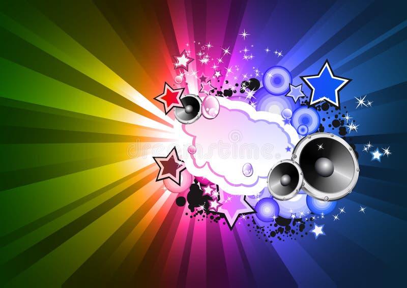 Priorità bassa variopinta della discoteca del Rainbow per le alette di filatoio royalty illustrazione gratis