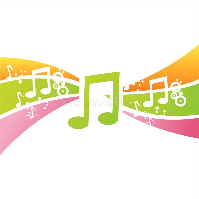 Priorità bassa variopinta delle note musicali royalty illustrazione gratis