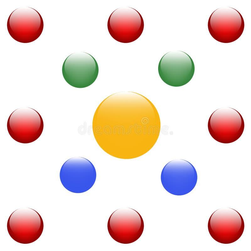 Priorità bassa variopinta delle sfere illustrazione di stock