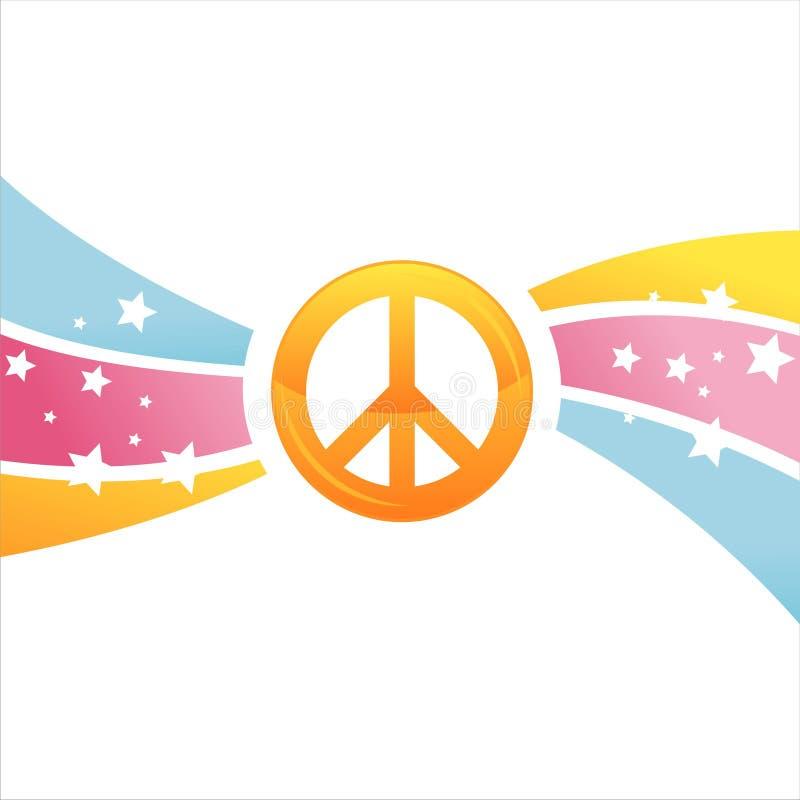 Priorità bassa variopinta di pace illustrazione vettoriale