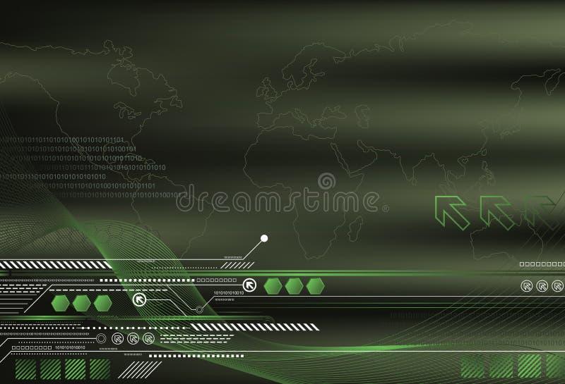 Priorità bassa verde astratta illustrazione vettoriale