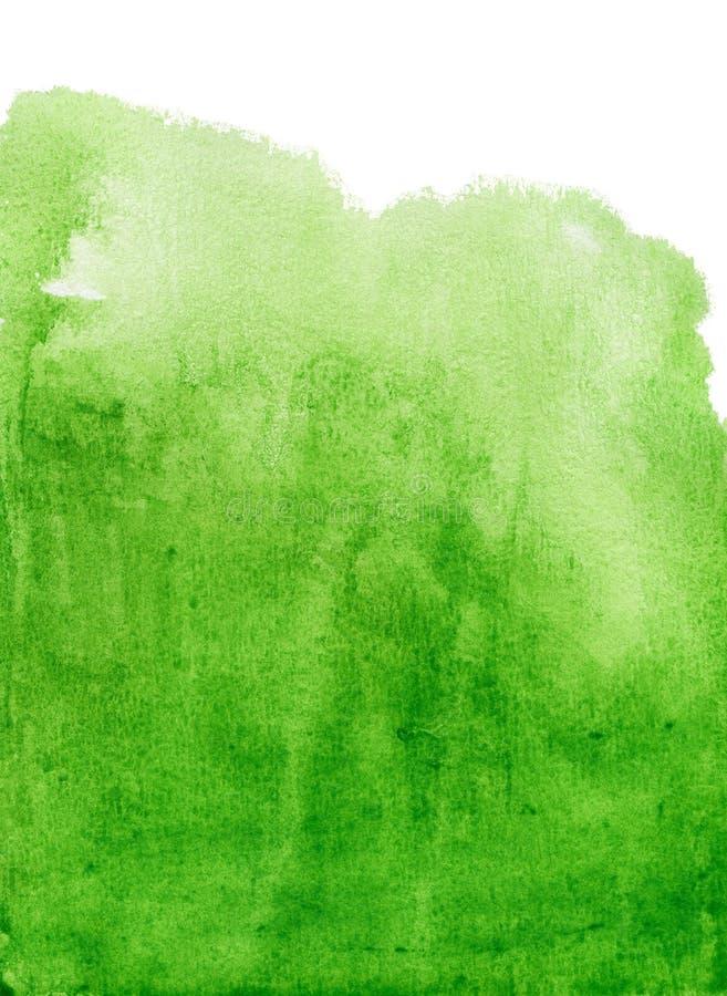 Priorità bassa verde astratta dell'acquerello fotografia stock