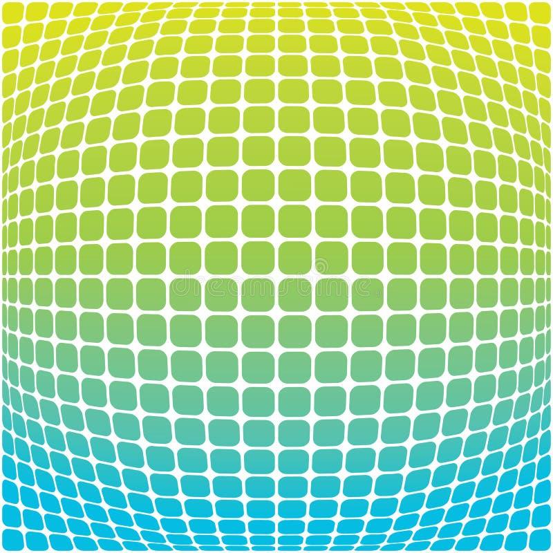 Priorità bassa verde blu illustrazione vettoriale